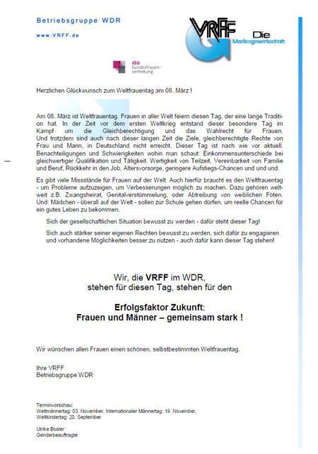 Weltfrauentag-WDR