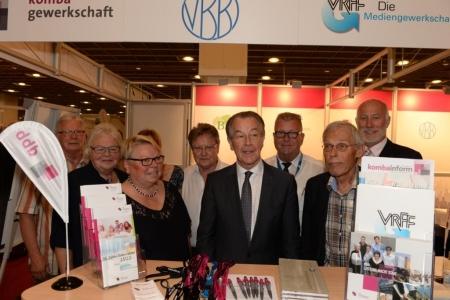 Franz Müntefering (SPD) stattete uns einen Besuch ab.